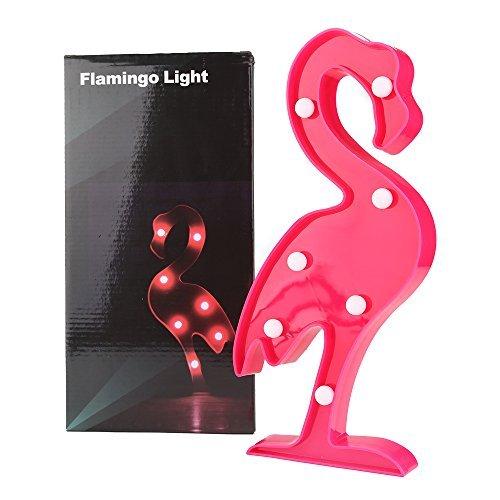 Aiernuo LED-Lampe mit rotem Flamingo, für Geburtstage, Partys, Hochzeiten, Dekoration, Kinderzimmer, Wohnzimmer, dekorative Art Deco-Lichter rot