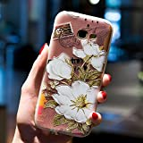 Cocomii Cute Armor Galaxy A5 2017 Hülle NEW [Feels So Good In Hand] Premium Relief Silicone Shockproof Bumper Shell [Slim Fit] Full Body Ultra Thin Lightweight Clear Cover Case Schutzhülle for Samsung Galaxy A5 2017 (C.Rhododendron Decorum)
