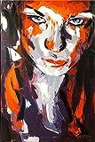 Abstraktes Portrait - Killerqueen - Red Line - Martin Klein - Abstraktes Lifestyle Gemälde - Moderne Gemälde - Wandbilder kaufen - Acrylbilder kaufen