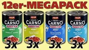 Animonda Megapack 82670 GranCarno Fleisch plus Mix1 12 x 400 g Dose - Hundefutter