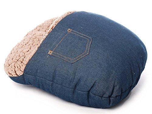 Preisvergleich Produktbild Inware 8669 - Fußwärmer,  Jeans,  aus Plüsch