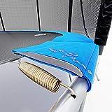 Hop-Sport Gartentrampolin Outdoor Trampolin 244, 305, 366, 430, 490 cm Komplettset inkl. Innennetz Leiter Wetterplane Bodenhaken blau (305 cm) - 5