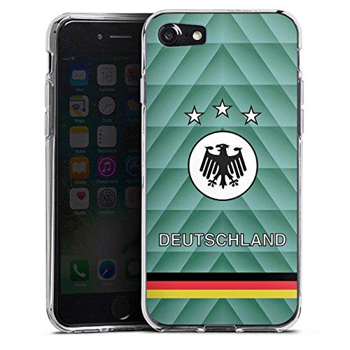 Apple iPhone X Silikon Hülle Case Schutzhülle Fussball Deutschland Vintage Silikon Case transparent