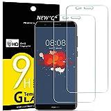 NEW'C Verre Trempé pour Huawei P Smart,[Pack de 2] Film Protection écran - Anti Rayures - sans Bulles d'air -Ultra Résistant (0,33mm HD Ultra Transparent) Dureté 9H Glass