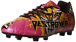 Nivia Destroyer Football Shoes, UK 11 (Black/Yellow/Pink)