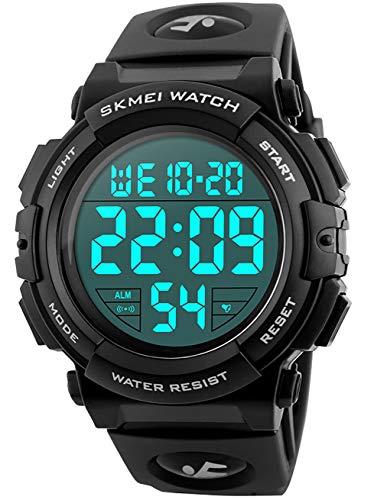 Relojes de Pulsera Digitales Deportivos Militares con Grandes Números a Prueba de Agua hasta 50M Reloj...