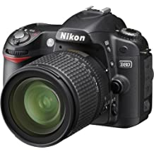 Nikon D80 + AF-S DX Zoom-Nikkor 18-135mm f/3.5-5.6G IF-ED (7.5x) + 1GB SD Card - Cámara digital (10,2 MP, SLR Camera Kit, CCD, 7,5x, 0x, 18 - 135 mm) Negro (Reacondicionado)