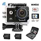 WiMiUS Q1 Action Cam 4K, Sport Action Camera 4K HD WIFI 16MP Fotocamera...