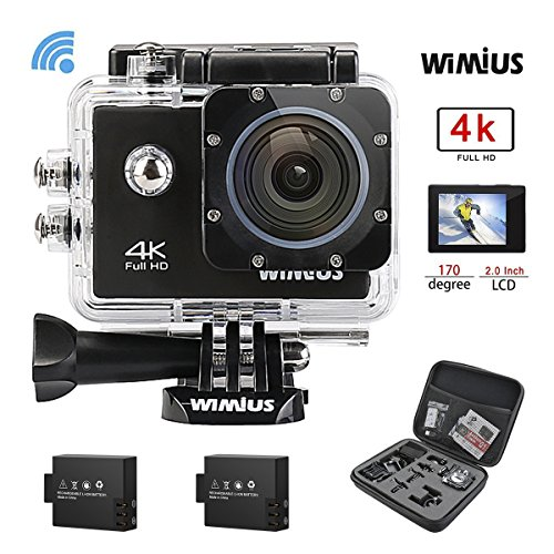 WiMiUS Q1 Action Cam 4K, Sport Action Camera 4K HD WIFI 16MP Fotocamera Subacquea Impermeabile 30M 170°