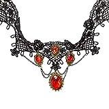Gothic-Collier - schwarz/rot