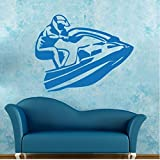 Mhdxmp Jet Ski Jetski Racing Graphique Wall Sticker Vinyle Decal Personnalité Salon Chambre Artisitc Décorations43 * 55 Cm
