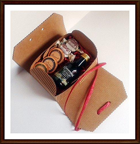 Exklusives Geschenk Connemara irish Single Malt Whiskey 5cl Miniatur mit DreiMeister Edel Schokoladen und Whisky Fudge, kostenloser Versand