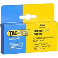 Tacwise Grapas - Caja de 2000 grapas galvanizadas 53/6mm