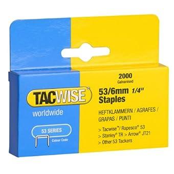 Tacwise Agrafes de Type 53 / 6 mm Galvanisées (Boîte de 2 000)