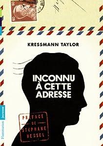 vignette de 'Inconnu à cette adresse (Kressmann Taylor)'