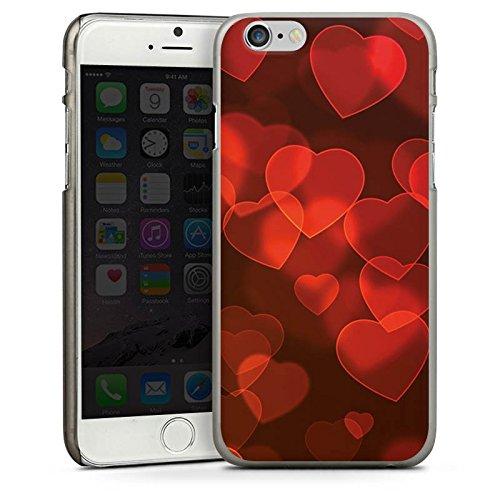 Apple iPhone 5 Housse étui coque protection C½ur affaibli Motif Motif CasDur anthracite clair