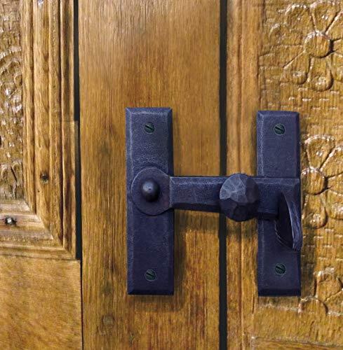 Antikas - Verschluss Antik - Türverschlüsse Eisen schwarz Riegel Fallriegel WC Schließer