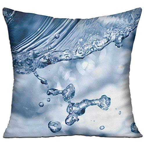 llow Cases,Water Drops with Light Art,Pillow Covers Decorative 18X18 in Pillowcase Cushion Covers with ()