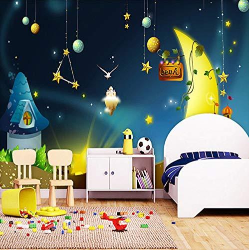 VVNASD 3D Aufkleber Wandbilder Wand Tapete Dekorationen Kinderzimmer Hintergrund Universum Star Boys Und Girls Bedroom Theme Kunst Kinder Küche (W) 300X(H) 210Cm