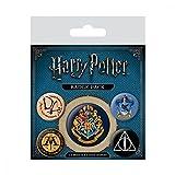 5x Original Anhänger Anstecker Harry Potter Hermine Gryffindor Umhang Hogwarts für Kleidung Hemd Kostüm an Fasching und Karneval für Kinder und Erwachsene