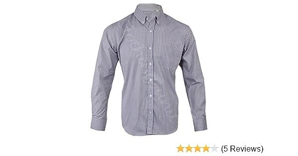 Mens Poly Cotton Check Short Sleeve Button Down Collar Shirt Work Casual M-5XL
