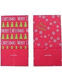 TOYANDONA 12Pcs Feliz Navidad Bolsa de Regalo Papel Kraft Árbol de Navidad Copo de Nieve Regalo Tratar Caramelo Envoltura Bolsa Decorativa Bolsa de Aperitivos Bolsa de Embalaje Accesorio