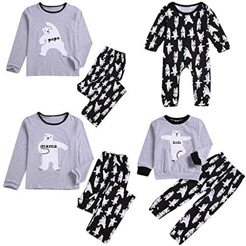Malloom Kleinkind Neugeborenes Baby Lang Ärmeld Cartoon Deer Romper Family Kleidung Pyjamas Weihnachten Familie Nachtwäsche Weich Gedruckt Schlafanzug Pyjama Set Langarmshirt