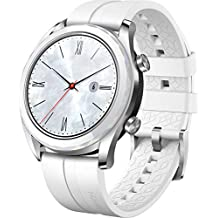 "HUAWEI Watch GT (Elegant) Smartwatch, Bluetooth 4.2, Display Touch 1.2"" AMOLED, Fitness Tracket con GPS, Rilevazione Battito Cardiaco, Resistente all'Acqua 5 ATM, Bianco"