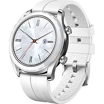 Blanc Elegant Gt TactileBoitier Huawei Bracelet ConnectéegpsEcran Inox Montre 42mmAvec Watch eW9EYDHbI2