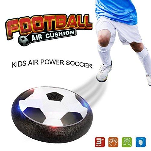 Hover Ball Calcio DIGOU Pallone da Calcio Air Power Soccer Toy Disc LED Musica Giocattolo Football Divertente Regalo per Bambini 3 4 5 6+ Gioco in Casa outdoor , Musica Può Essere Spegni【Versione aggiornata】