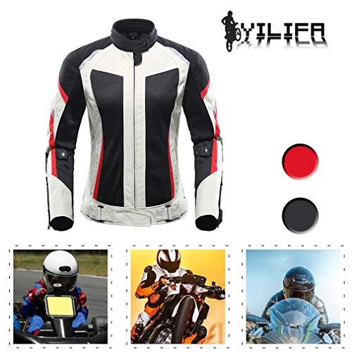 YILIFA Motorrad Rüstung Anzüge, CE geprüft Damen Bike Rider Racing Anzug 2 Stück Anzug,M