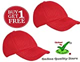 #5: Online Quality Store Trendy Cap Red Color for Men's and Women's + Free 1 Cap (Offer for 2 days)