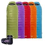 KingCamp Daunenschlafsack -12°C / 10.4°F Deckenschlafsack mit Kopfteil Warm Ultraleicht für...