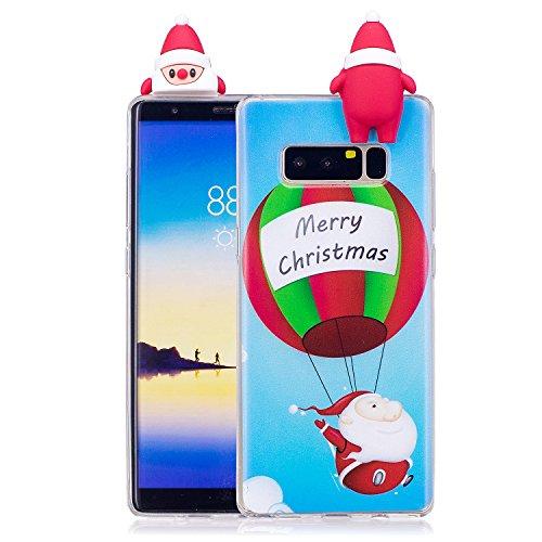 v Galaxy Note 8 Case Cover Durchsichtig TPU Silikon Handyhülle Bumper Schutzhülle Back Etui Schale Bumper Schutz Handy Hülle Kompatibel mit Samsung Galaxy Note 8 Kinder - Ballon ()