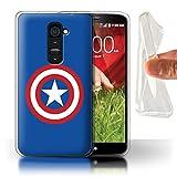 Stuff4 Coque Gel TPU de Coque pour LG G2 / Capitaine Bouclier Inspiré Design/Super...