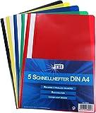TSI Schnellhefter 5er Packung DIN A4 aus Polypropylen