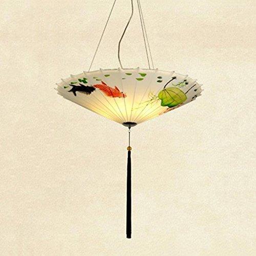 Die kronleuchter Beleuchtung kreative Malerei tuch Regenschirm offensichtlich ist, teehaus Hot Pot Restaurant Innenbeleuchtung (Größe: 40 cm).