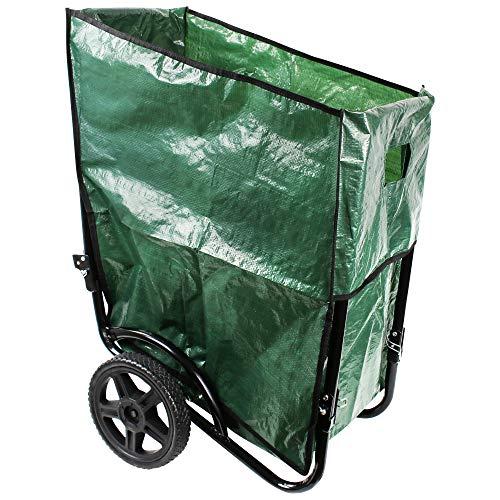 UPP Faltbare Laub- & Gartenkarre 190 L | Transportwagen für Holz 110kg belastbar | Schubkarre ideal für Laub, Gras, Erde, Gartenabfall