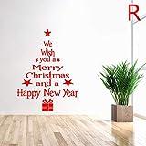 Celan Wandaufkleber mit Weihnachtsbaumbuchstaben, entfernbar, PVC