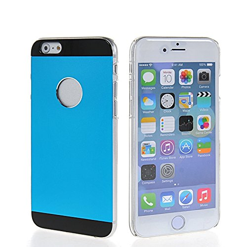 MOONCASE Metal Aluminium Cover Housse Coque Etui Case Pour Apple iPhone 6 (4.7 inch) Doré LightBleu 01