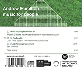 Andrew Hamilton : Music for people. O'Rourke, Fraser, Echardour, Pierson.