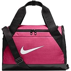 Nike Brsla Xs Bolsa de Deporte, Mujer, Rosa (Rush) / Negro / Blanco, Talla Única