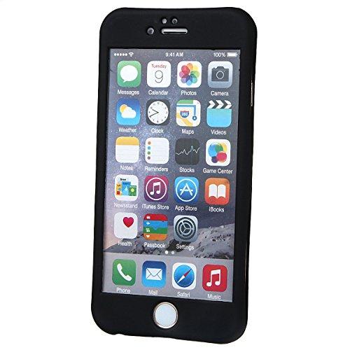 """xhorizon TM Protection à 360 Degrés 2 en 1 Housse Fine Couverture avec écran Verre Trempé Protecteur pour iPhone 6(4.7"""") noir"""