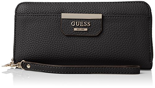 Guess Bobbi Slg Large Zip Around Portamonete, Donna, Multicolore (Onyx Multi)