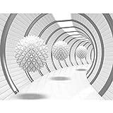 Fototapeten 3D - Weiß 352 x 250 cm Vlies Wand Tapete Wohnzimmer Schlafzimmer Büro Flur Dekoration Wandbilder XXL Moderne Wanddeko - 100% MADE IN GERMANY - Runa Tapeten 9175011a