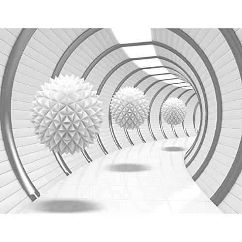 *Fototapete 3D – Weiß 396 x 280 cm Vlies Wand Tapete Wohnzimmer Schlafzimmer Büro Flur Dekoration Wandbilder XXL Moderne Wanddeko – 100% MADE IN GERMANY – Runa Tapeten 9175012a*
