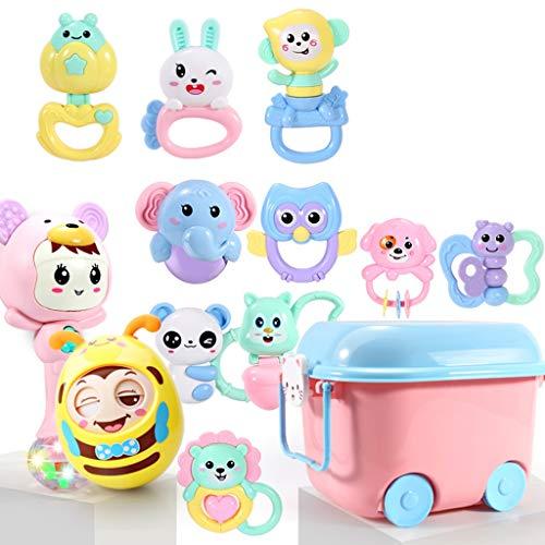 WYNZYSGWJ Kann Beißen Gekochte Beißring Rassel, Baby Toy Puzzle Baby 0-1 3-6-12 Monate Beißring Rassel (Farbe : C)