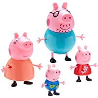 Toyico Peppa Pig Family Toy Cartoon Toys for Children Games, Set of 4