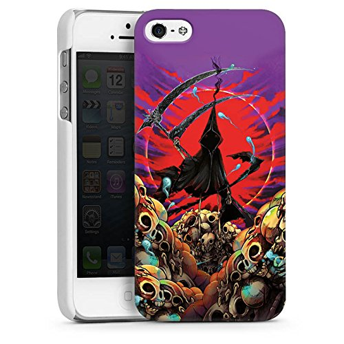 Apple iPhone 6 Housse Étui Silicone Coque Protection Faucheur Tête de mort Faux CasDur blanc