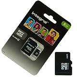 Acce2S Speicherkarte/Adapter mit integrierter microSDHC 8GB für Samsung Galaxy J12016Micro SD HC + Adapt SD Integral